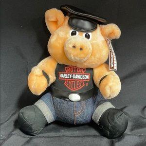 Harley Davidson Collectable Plush Pig